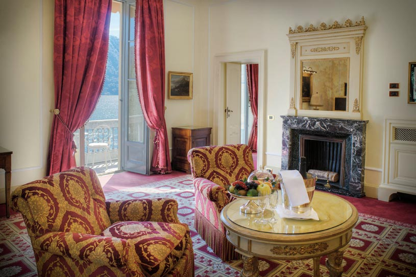 Presidential Suite Living Room at The Villa d'Este Lake Como