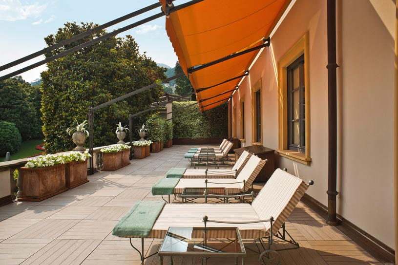 Terrace of the beauty center at The Villa dEste Lake Como