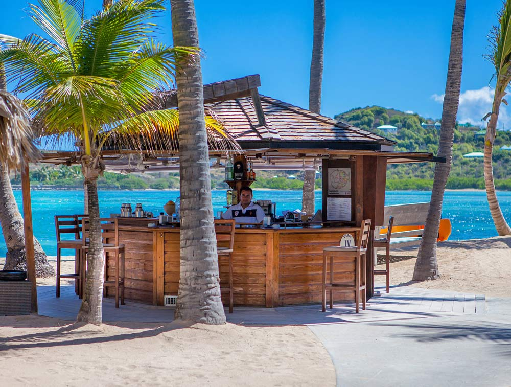 Beach Bar at Guanahani Hotel
