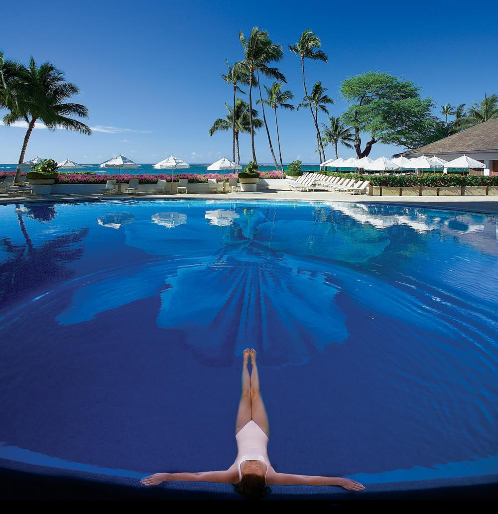 Pool at Halekulani, Honolulu, HI