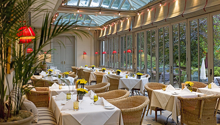 Dining at Brenners Park Hotel and Spa, Baden, Germany