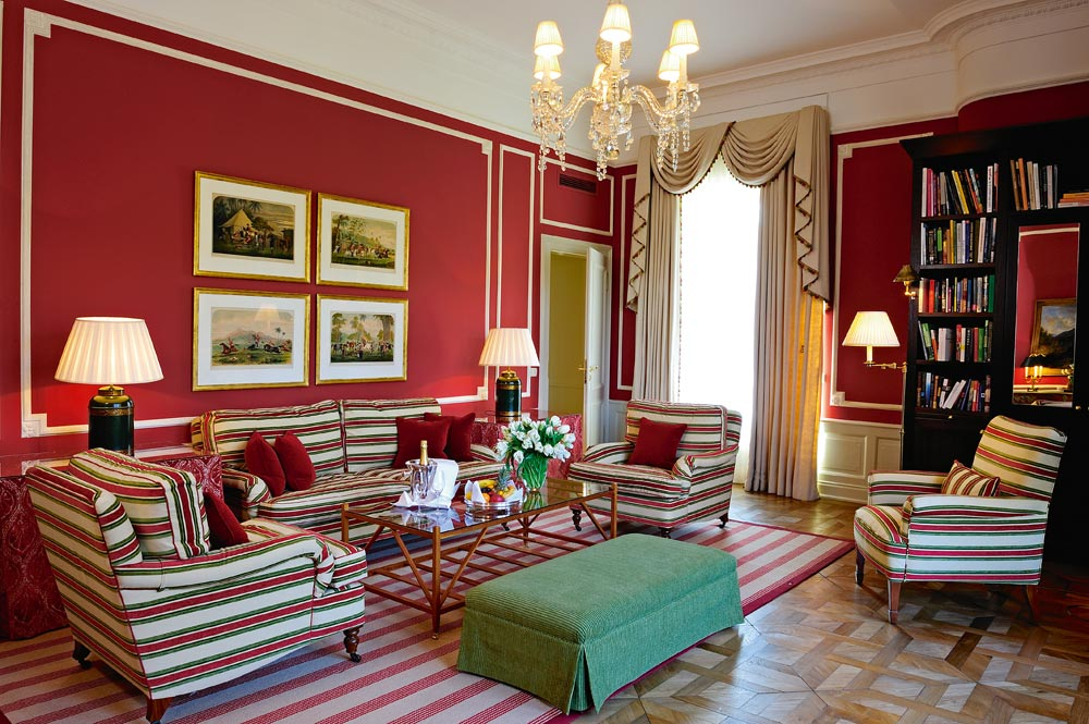 Deluxe Suite Living Room at Brenners Park Hotel and Spa, Baden, Germany