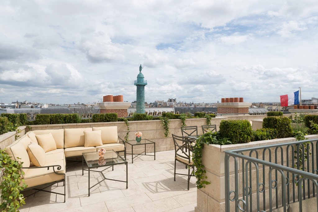 Suite Mansart Terrace at Ritz Paris, Paris, France