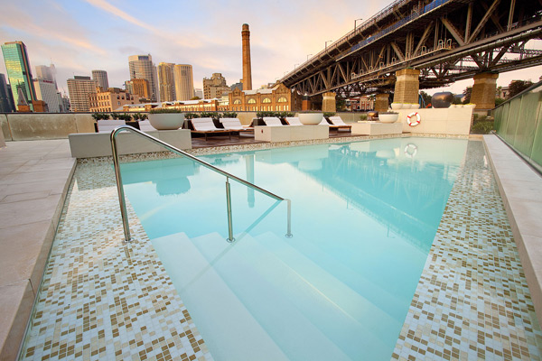 Park Hyatt Sydney Rooftop Pool at Night