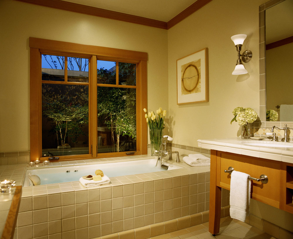Fairway Home bathroom at CordeVallea Rosewood Resort in San MartinCAUnited States