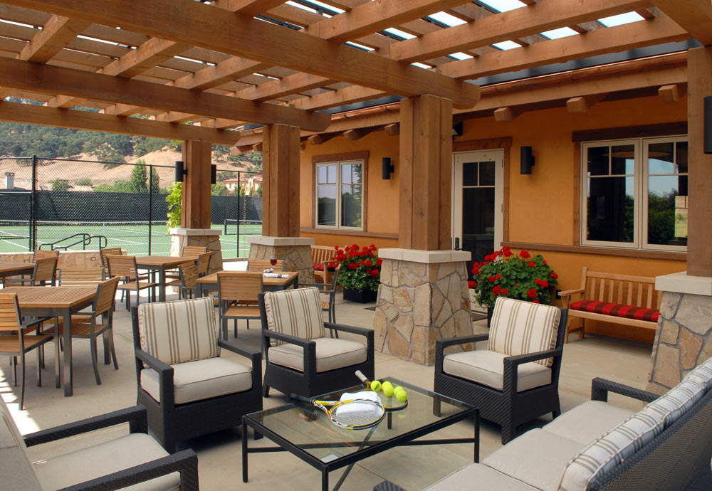 Terrace Lounge at CordeValle, a Rosewood Resort in San Martin, CA, United States