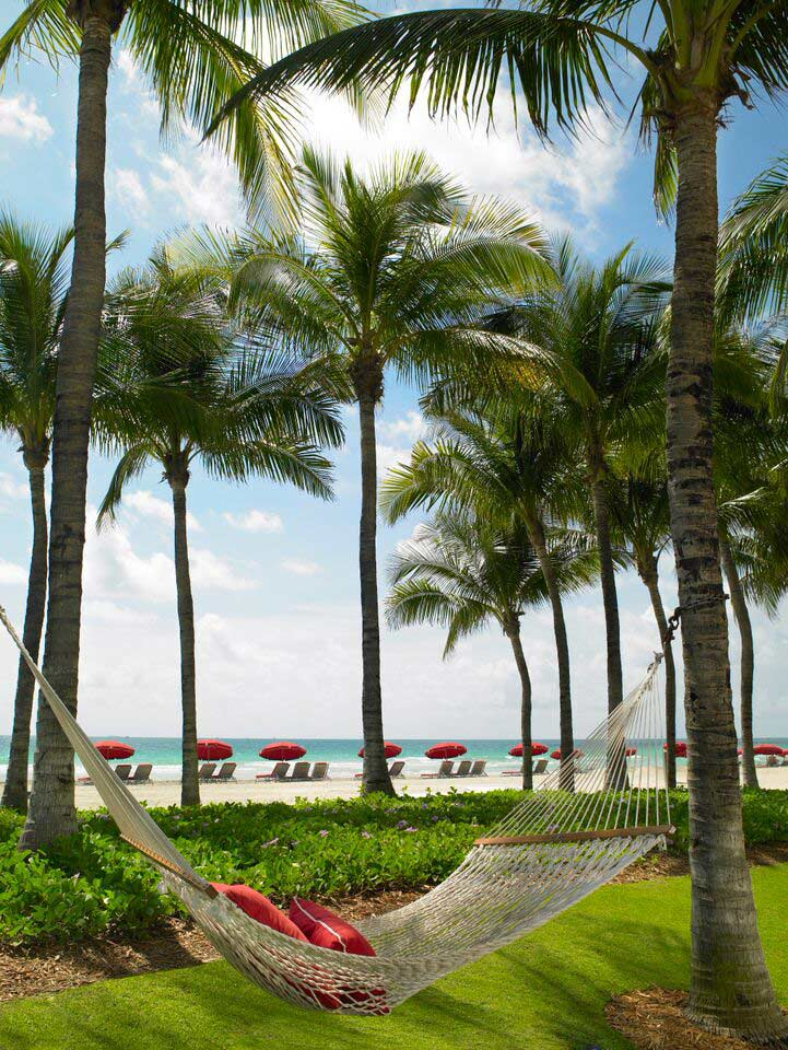 Lounge on a Hammock at Acqualina Resort and SpaSunny Isles BeachFL
