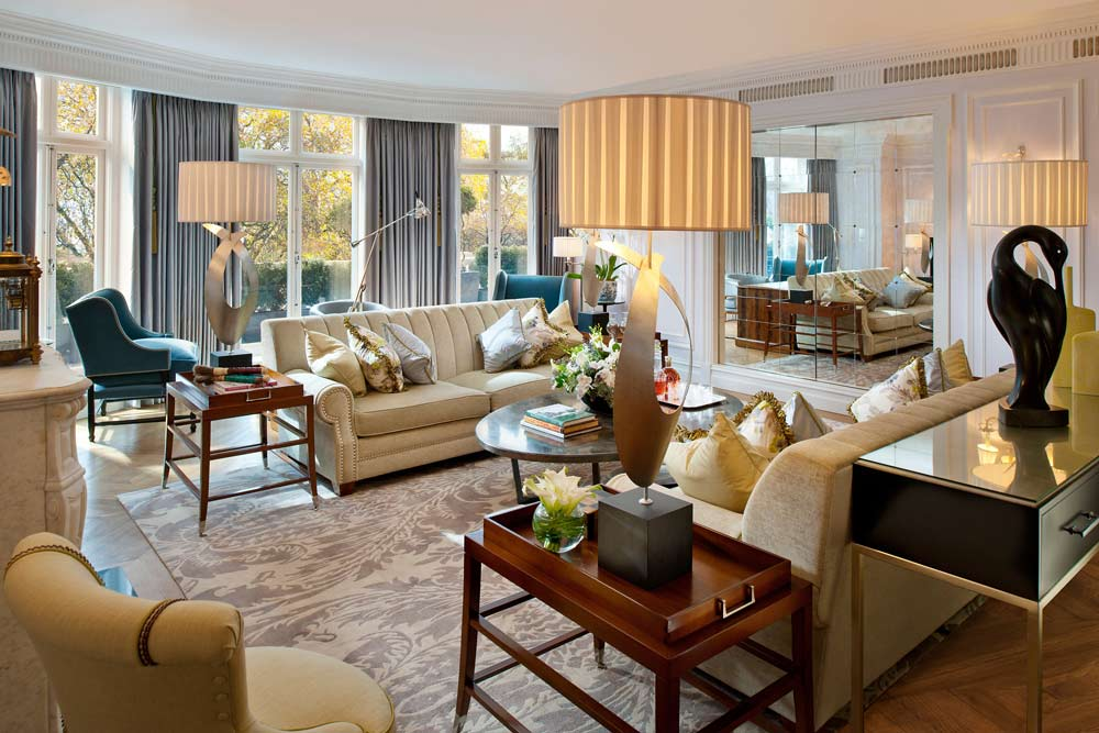 Living Room of Royal Suite at Mandarin Oriental Hyde Park