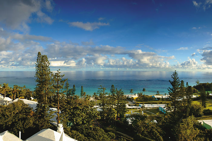 One of the many lovely views from Elbow Beach