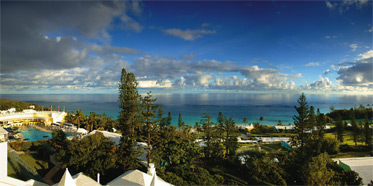 Panorama Views from Elbow Beach Club Resort in Bermuda