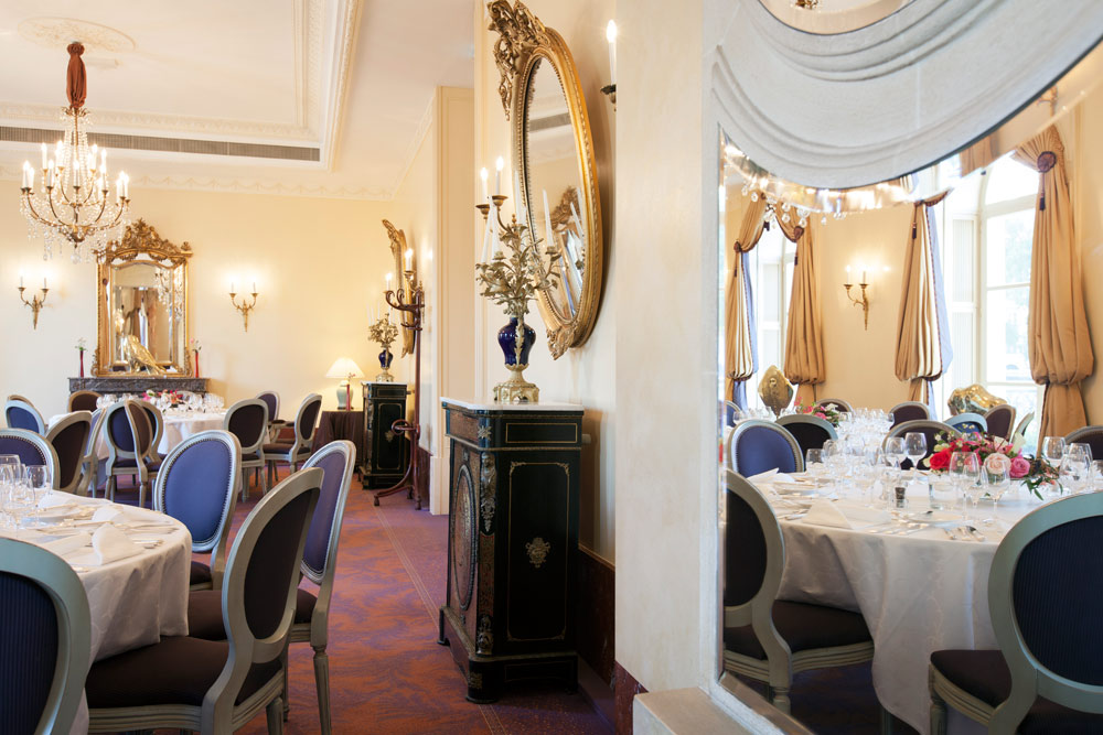 Salon Tremois Dining Room at Beau Rivage GenevaSwitzerland