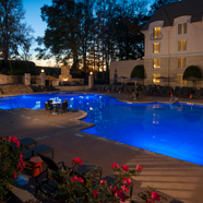 Outdoor Pool in the evening at Chateau Elan Winery and ResortBraseltonGA