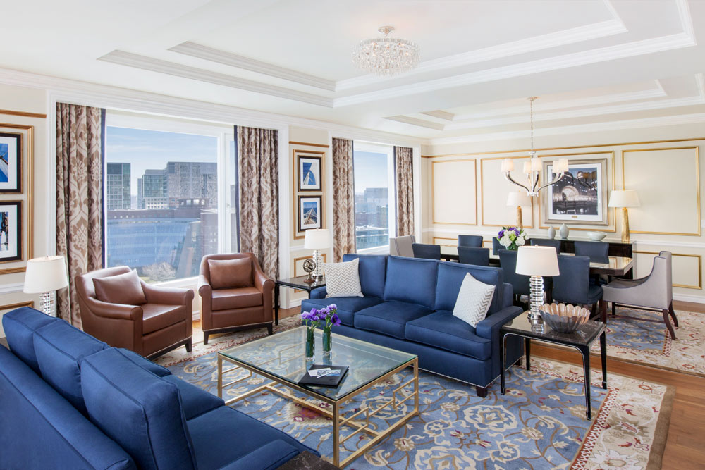 Presidential Suite Living Room at Boston Harbor Hotel, Boston, MA