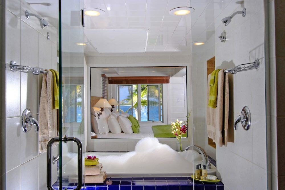 Beachfront Junior Suite Bathroom at Peter Island Resort & Spa