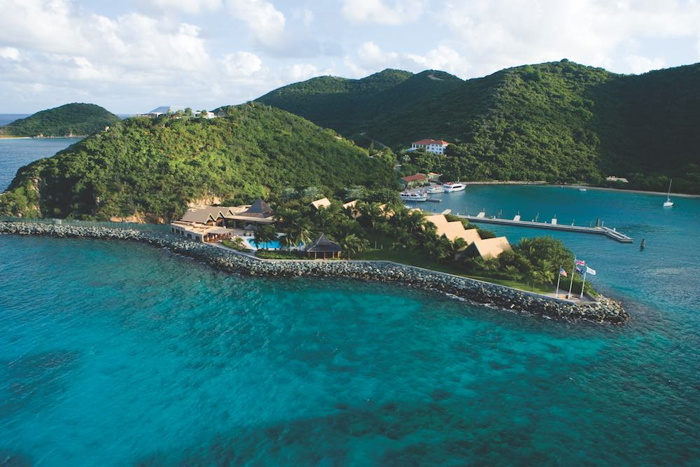 Aerial view of Peter Island Resort & Spa