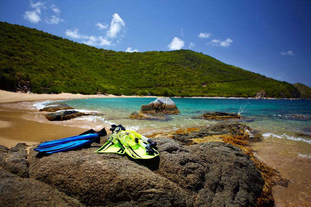 Snorkeling on White Bay Beach at Peter Island Resort & SpaPeter IslandBritish Virgin Islands
