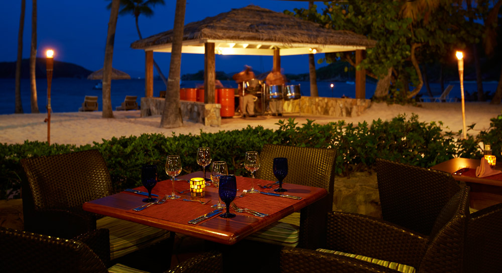 Deadmans Beach Bar and Grill Table at Peter Island Resort & SpaPeter IslandBritish Virgin Islands
