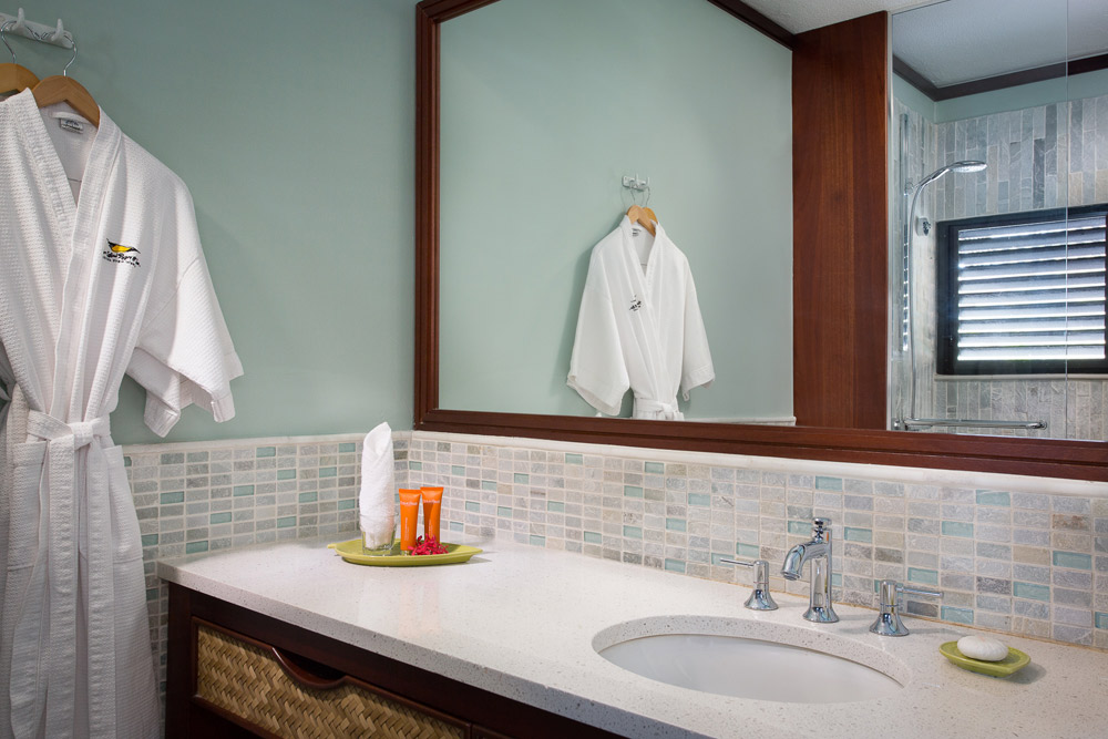 Ocean View Room Bath at Peter Island Resort & SpaPeter IslandBritish Virgin Islands