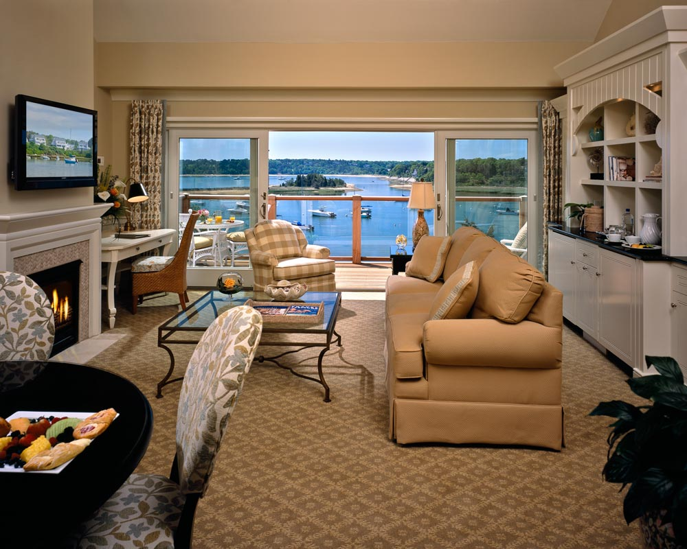 Round Cove Suite Living Area at Wequassett Inn, MA