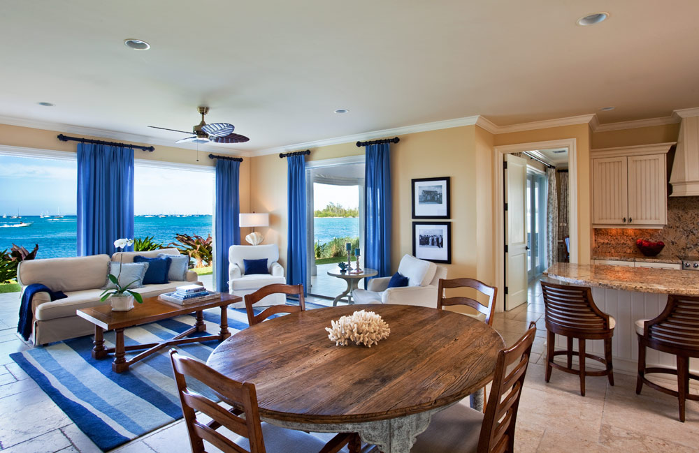 Three Bedroom Deluxe Living Room at Sunset Key CottagesKey WestFL