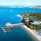 Aerial View of Sunset Key Cottages, Key West, FL