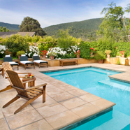 Warming Pool at Bernardus Lodge Carmel ValleyCA