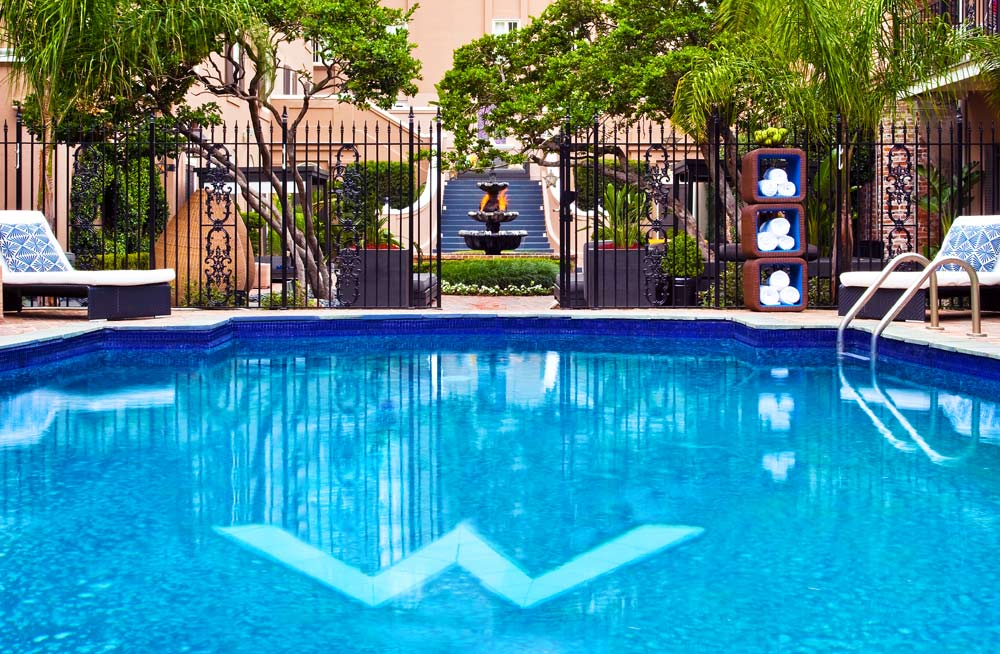 Courtyard Pool at W French Quarter New Orleans