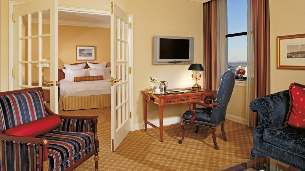 Suite Guestroom at Ritz Carlton Philadelphia