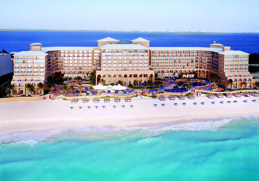 Hotel and Beach Views at Ritz Carlton CancunMexico
