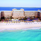 Hotel and Beach Views at Ritz Carlton Cancun, Mexico