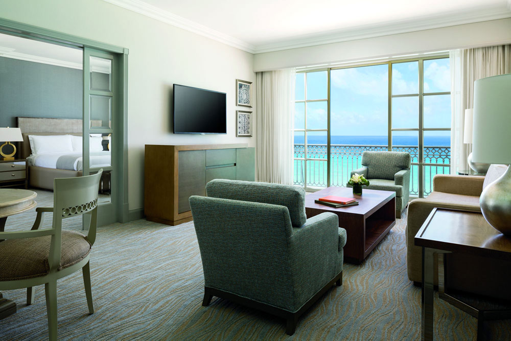 Suite with ocean views at Ritz Carlton CancunMexico