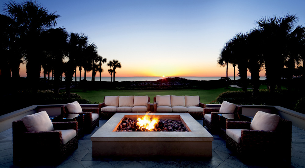Firepit at Ritz Carlton Amelia Island
