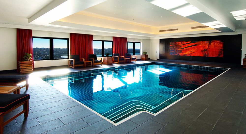 Indoor Pool with surrounding views at InterContinental SydneyAustralia