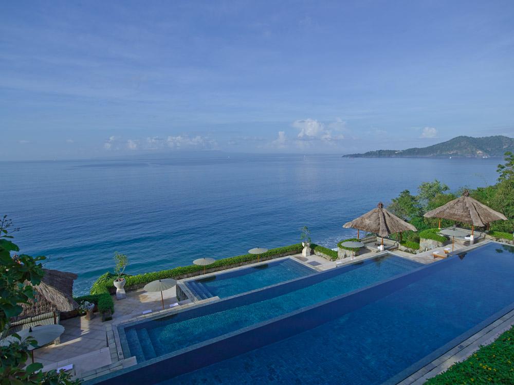 Three tier pool, Amankila, Bali