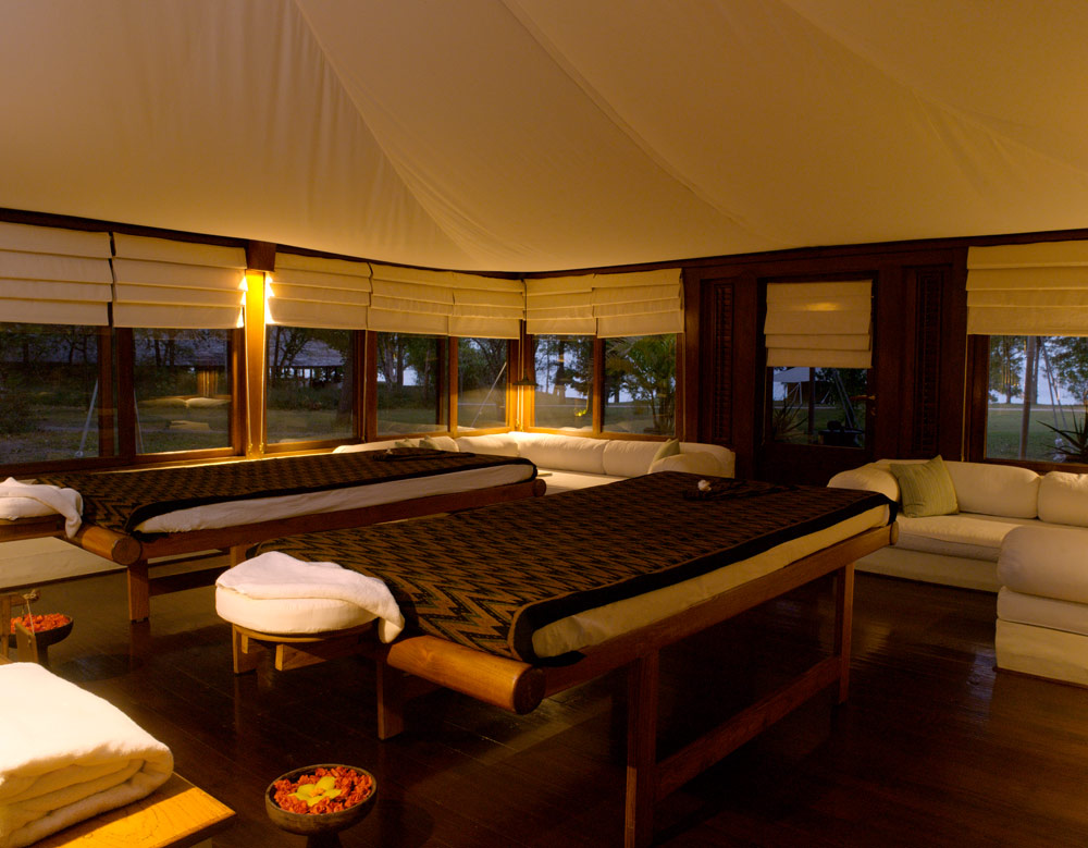 Spa Tent, Amanwana, Indonesia