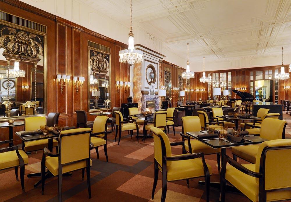 Dining at Hotel Bristol Vienna, Austria