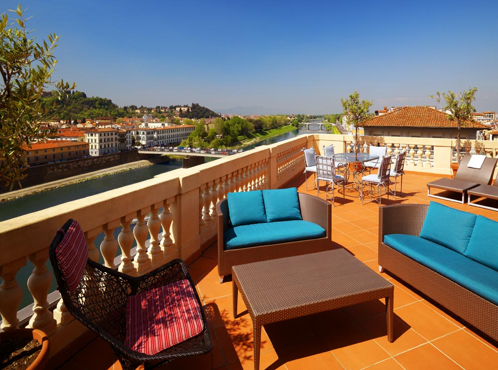 Balcony Lounge at The Westin Excelsior FlorenceItaly
