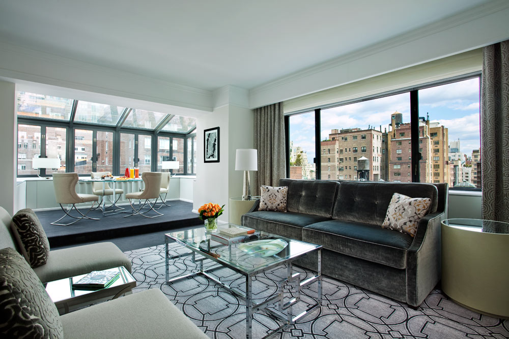 Terrace Suite Living Room at Loews Regency Hotel, New York