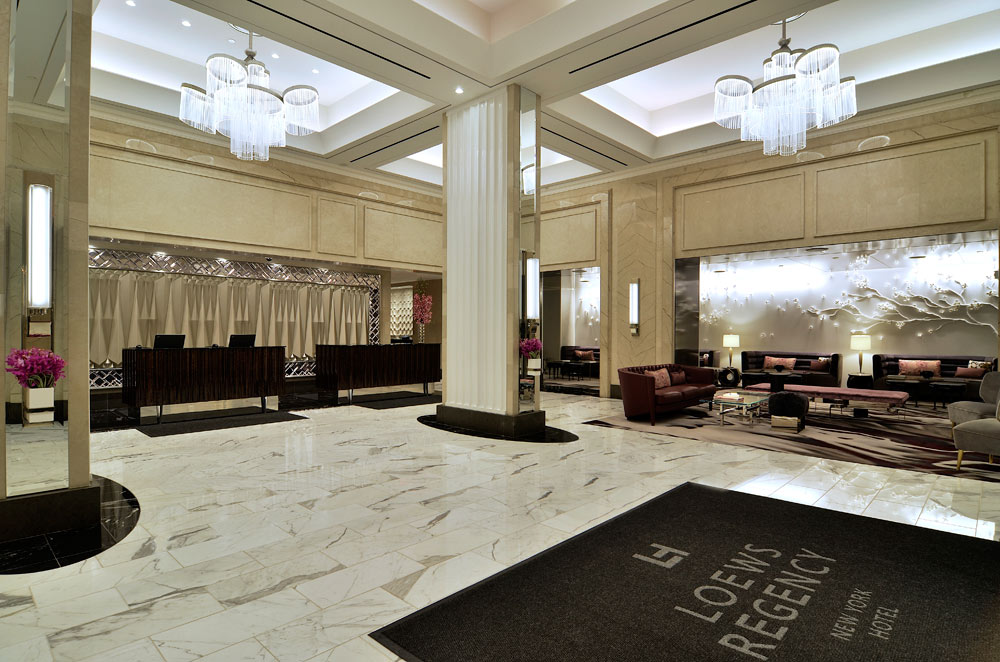 Lobby at Loews Regency Hotel, New York