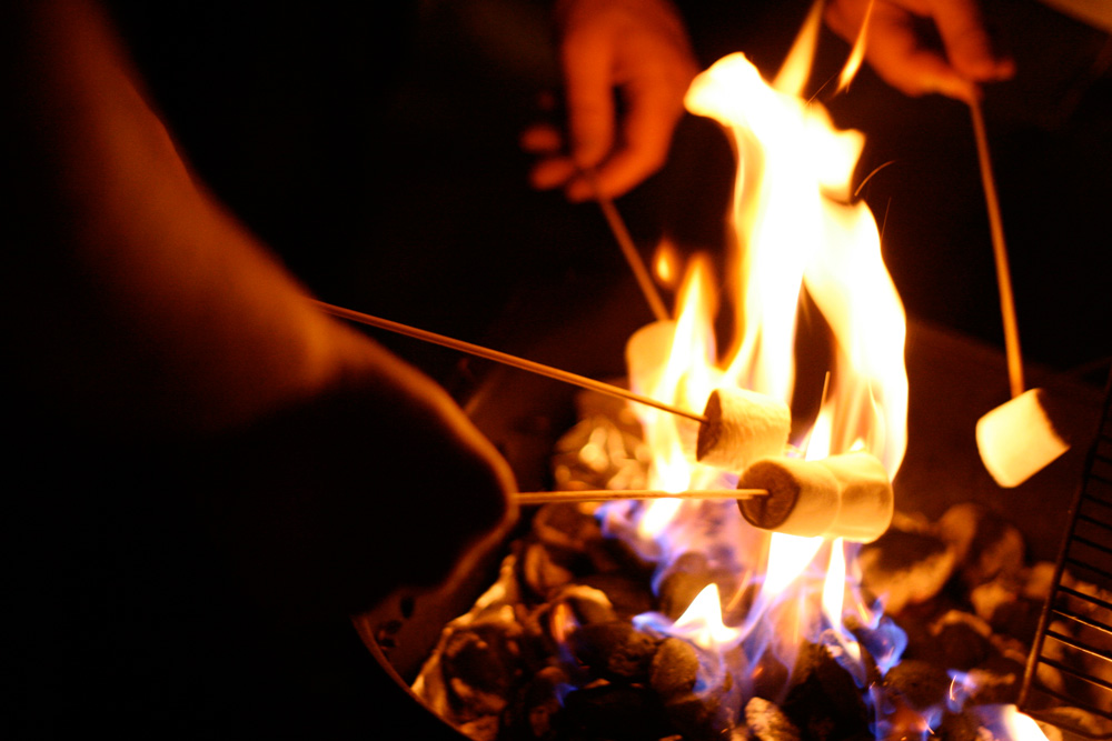 Treat your family to smores on the beach at the Hotel del CoronadoCA