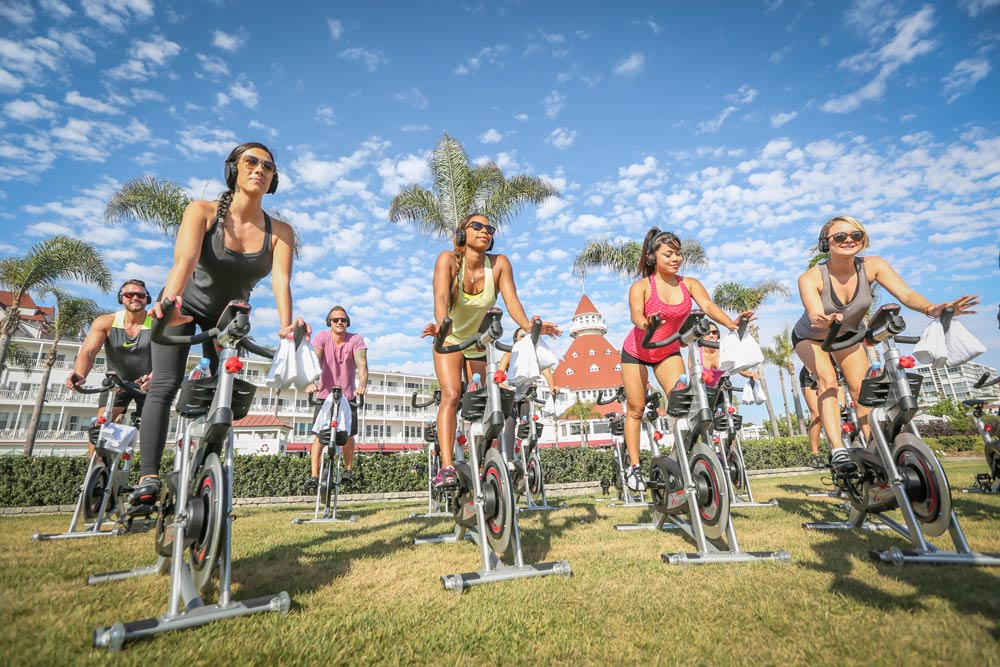 Enjoy Spin on the Beach at the Hotel del CoronadoCA