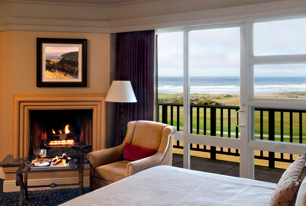 The Inn at Spanish Bay ocean view room, Pebble Beach, CA