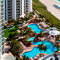 Aerial View of Resort and Beach at Trump International Beach Resort in Sunny Isles BeachFL