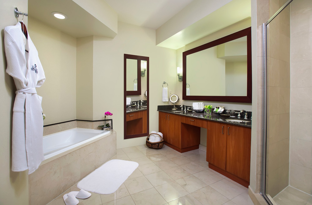 One Bed Suite Bath at Trump International Beach Resort in Sunny Isles Beach, FL