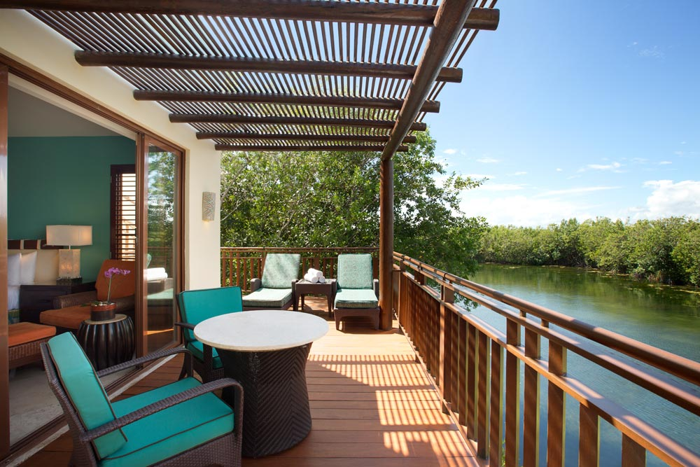 Terrace Lounge at The Fairmont Mayakoba in Playa del CarmenMexico