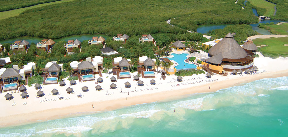 Beach view ofThe Fairmont Mayakoba in Playa del CarmenMexico