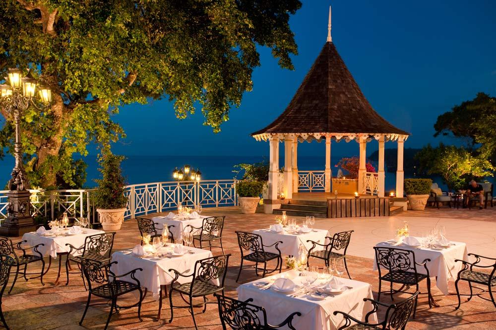 Dining at Sandals Royal Plantation, Ocho Rios, Jamaica