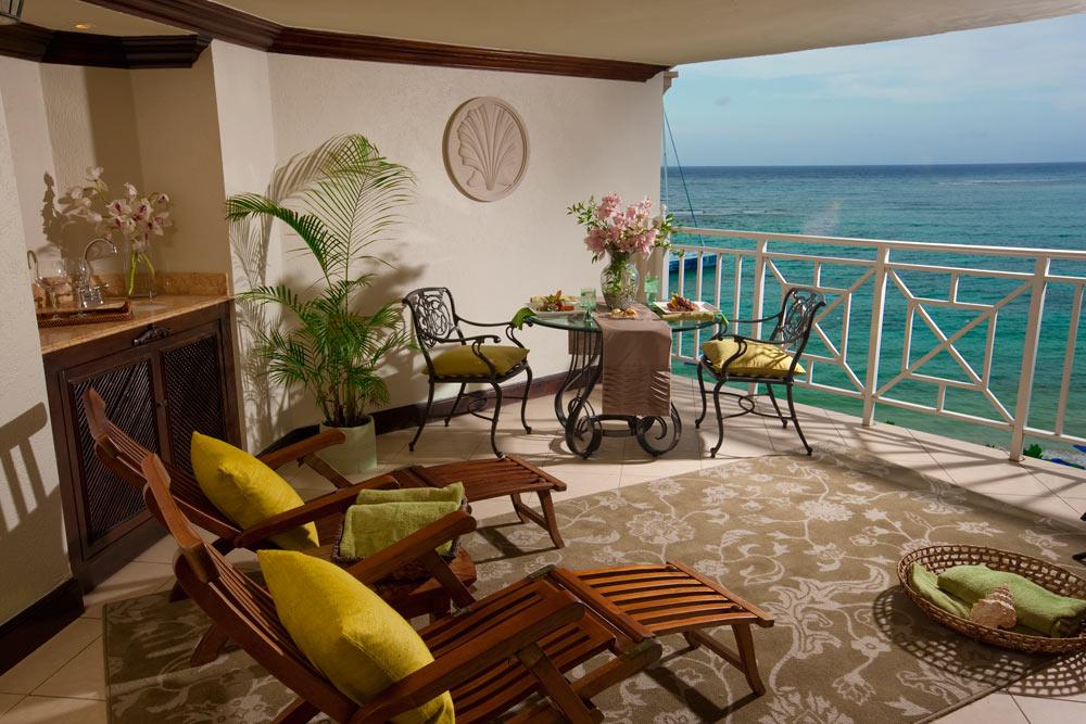 Suite Balcony Overlooking Ocean Views at Royal Plantation, Ocho Rios, Jamaica
