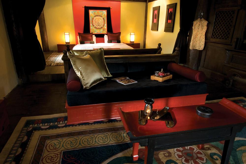 Tibetan Suite Bedroom at Banyan Tree Ringha