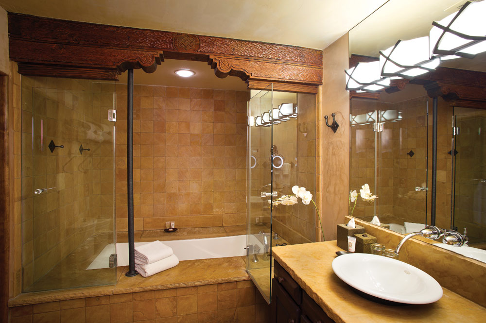Suite Bath at El Monte Sagrado Living Resort and Spa, Taos, NM